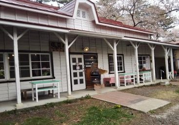旧芦野公園駅の駅舎